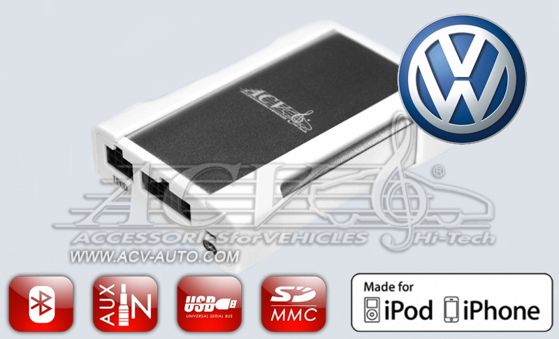 N-Disk ACV CH46-1019 CarLink на VW 12-pin (2003-2011)+iPod/iPhone